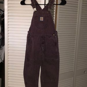 Carhartt kids 3T toddlers overalls maroon pants